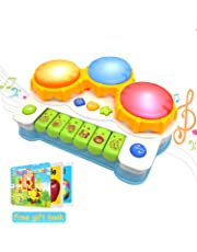 ACTRINIC Baby Musical Toys Drums Piano Musical Instrument,Learning and Development Early Educational Game With Light And Music Set for Girls And Boys Toddlers