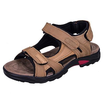 WhiFan Herren Outdoor Sandalen Wandern Sandalen Schnell Trocken Toecap Sommer Schuhe Absturz Baotou Sport-&Outdoorschuhe okvFAO7hIB