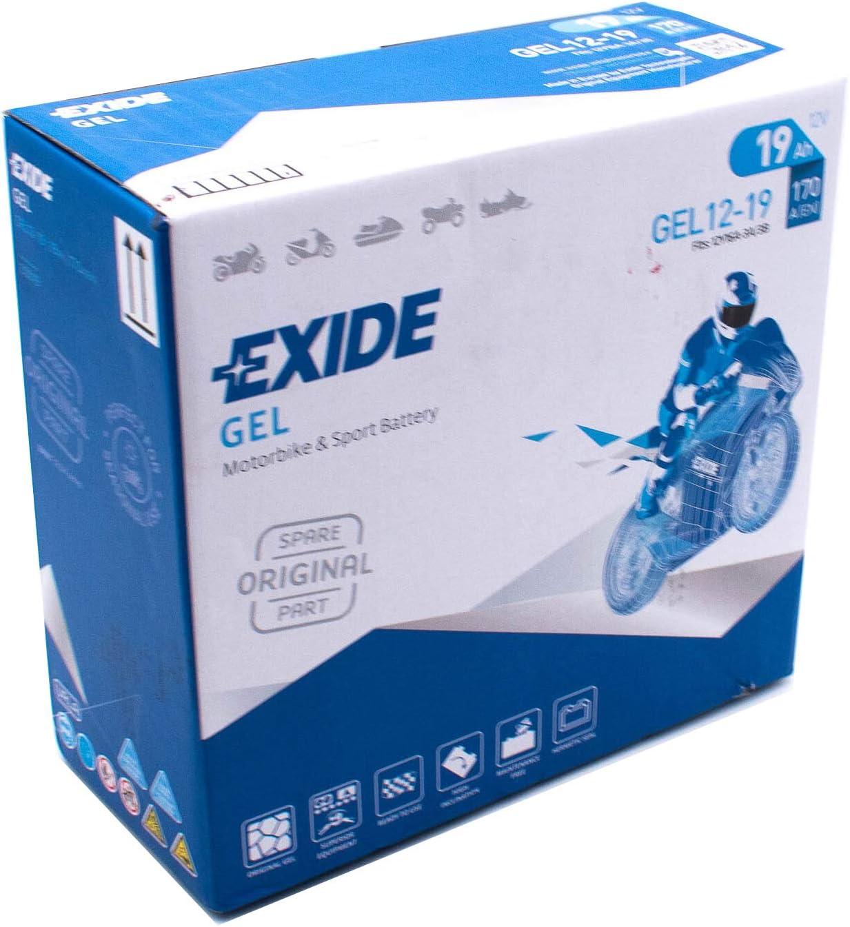 Exide 707 26 55 Batería Gel Exide G 19 12V 19Ah Especial Moto