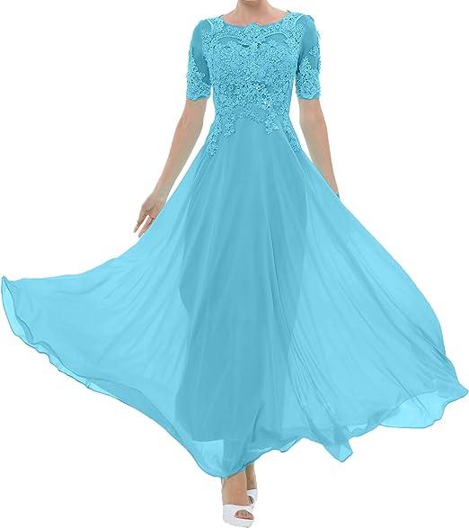 Royaldress 2019 Abendkleider Lang Ballkleider Partykleider Festliche Kleider Mit Spitze Langarm Chiffonkleider Amazon De Bekleidung