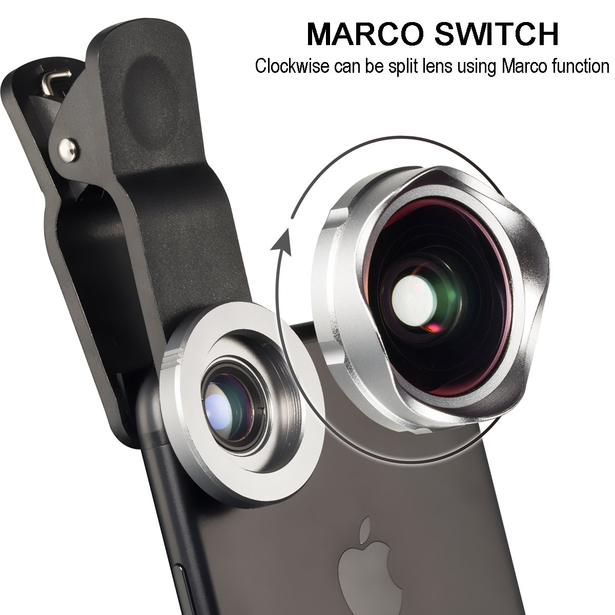 Gray YOUMILE Cell Phone Camera Lens 2 in 1 Clip-on Lens Kit 112/° Super Wide Angle /& 15X Macro Phone Camera Lens Professional HD for iPhone 8 7 6s 6 Plus Samsung Android Smart Phone iPad