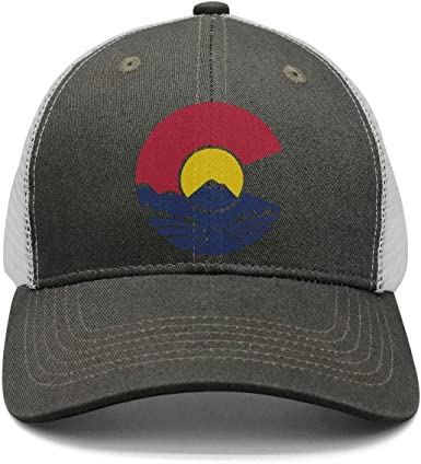 2 Men Womens Baseball Hats Colorado Mountain Logo Snapback Fits Cap