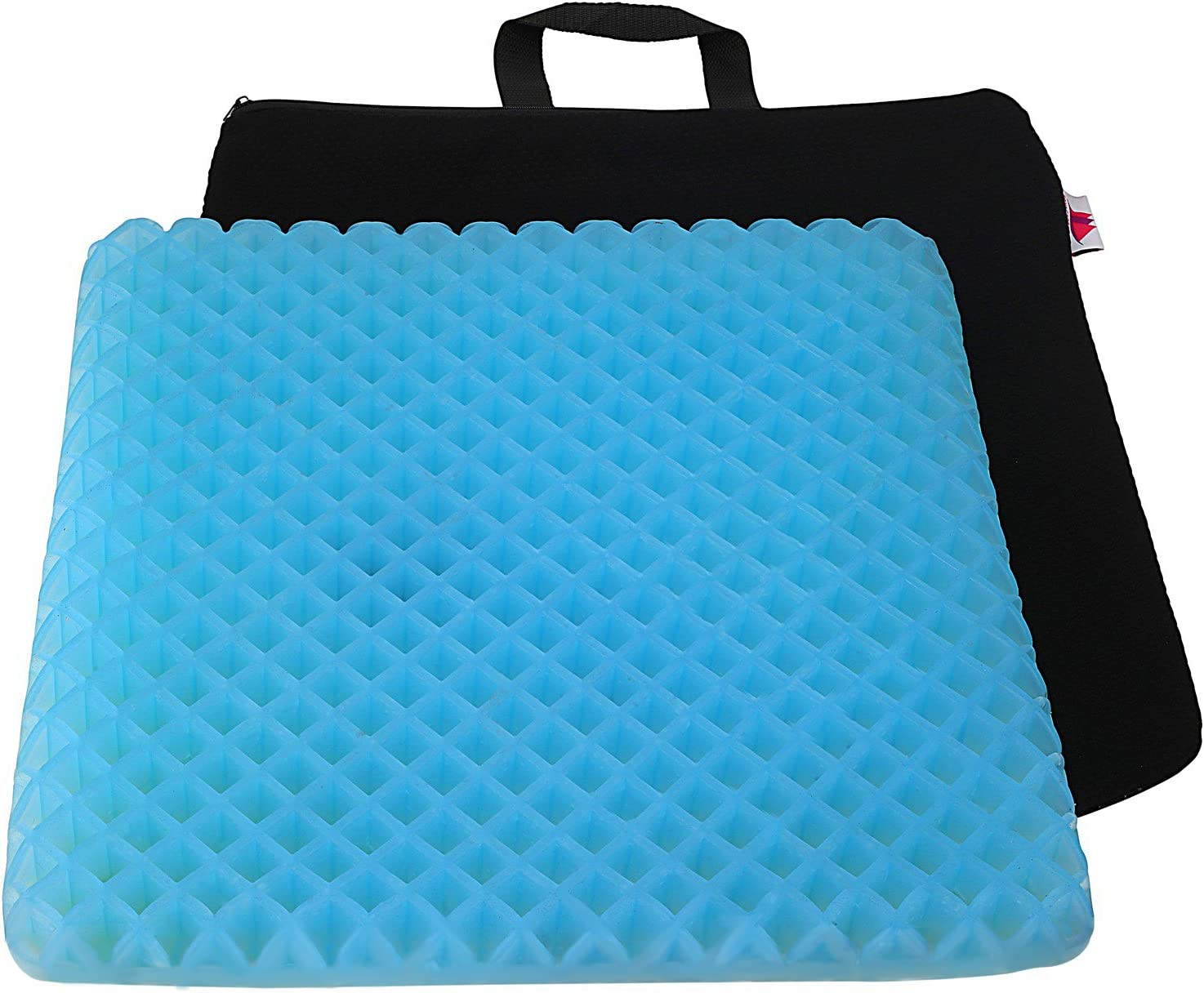 "FOMI Premium Firm All Gel Orthopedic Seat Cushion Pad (15"" x 15"") for Car, Office Chair, Wheelchair, or Home. Pressure Sore Relief. Ultimate Gel Comfort, Prevents Sweaty Bottom, Durable, Portable 718jwuS2aWL"