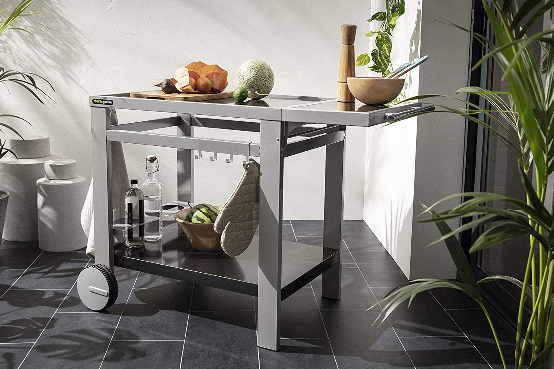 Cookin Garden Wt032T Media S Desserte Barbecue//Plancha Noir//Silver