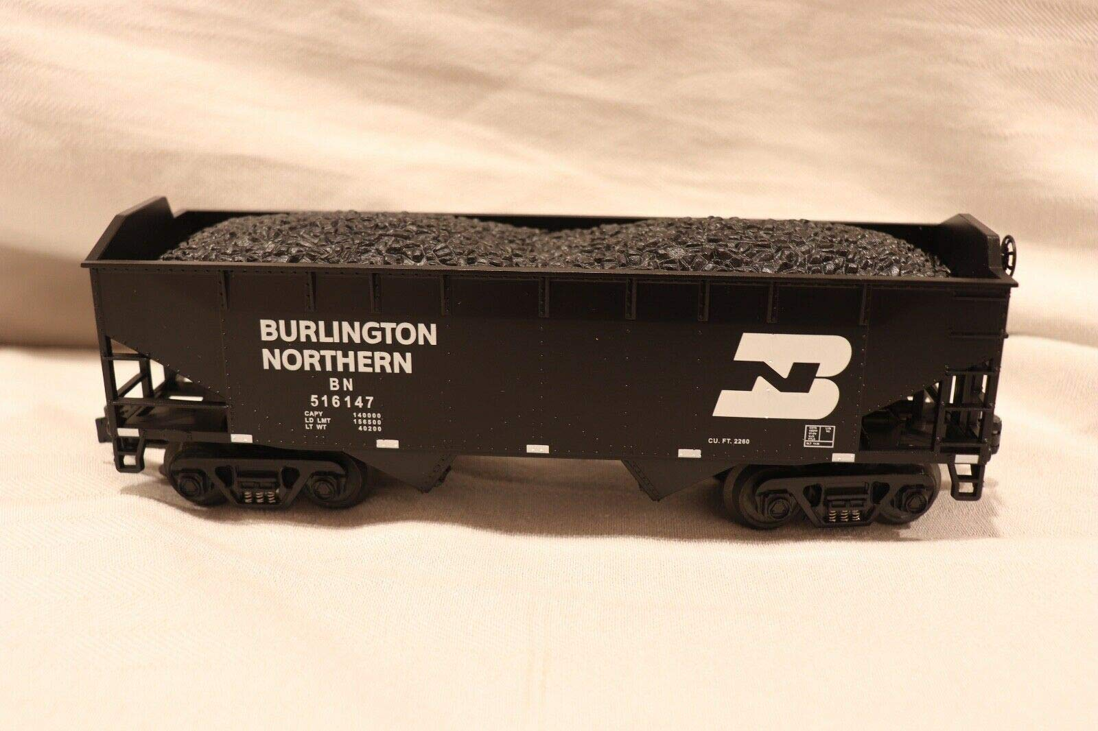 MTH 1:48 O Scale 2 Bay Hopper Car Burlington Northern #20-90014D