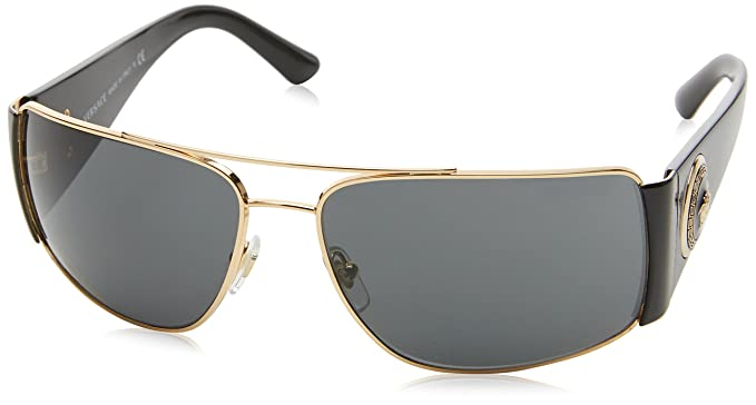 c83f378fa554 VERSACE Men s 2163 0VE2163 100287 63 Sunglasses Gold Gray  Versace ...
