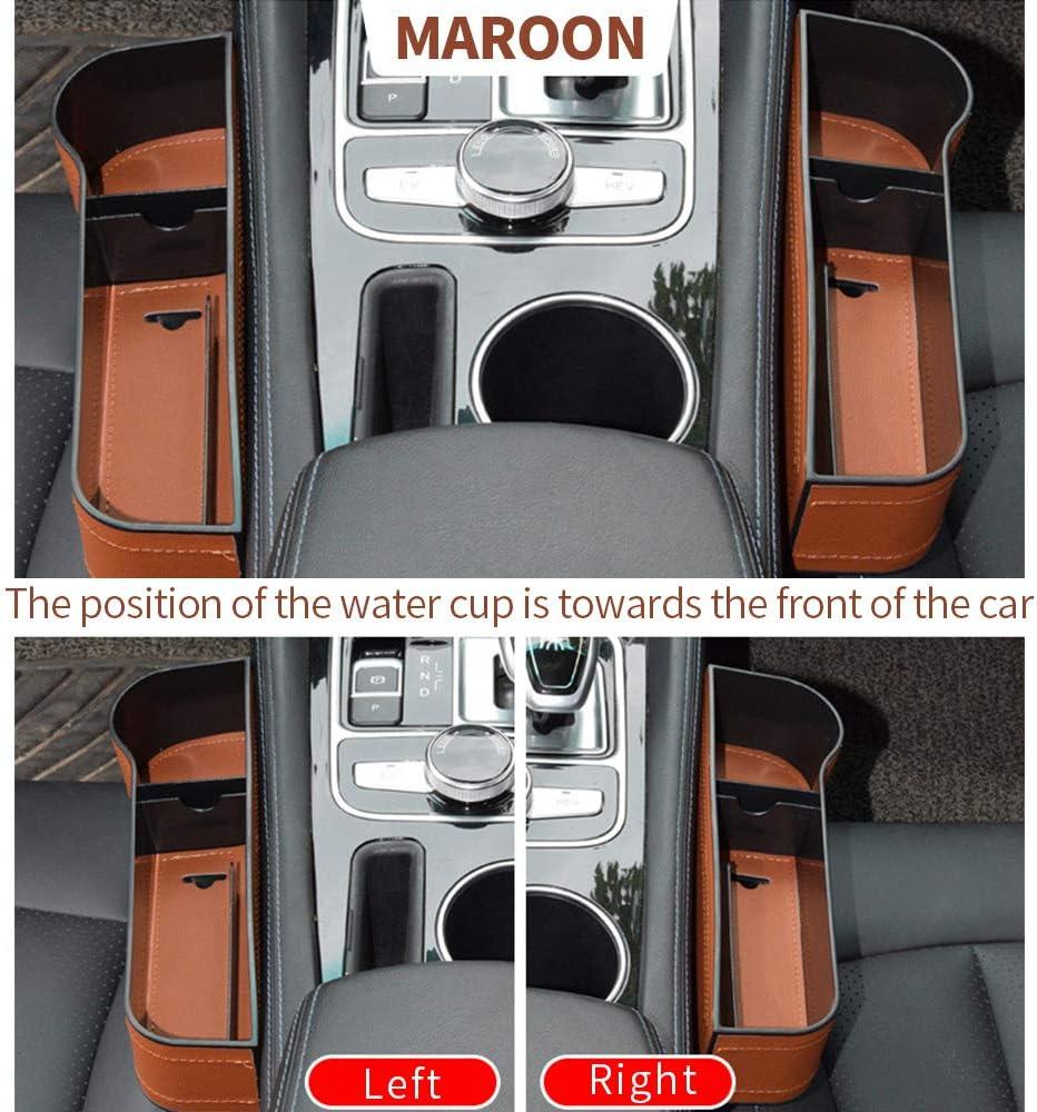 Speyang Autositz Gap Aufbewahrungsbox Auto Aufbewahrungsbox Mittelkonsole 2 Stück Multifunktionale Aufbewahrungsbox Für Autositzlücken Organizer Mit Pu Leder Für Zusätzliche Lagerung Auto