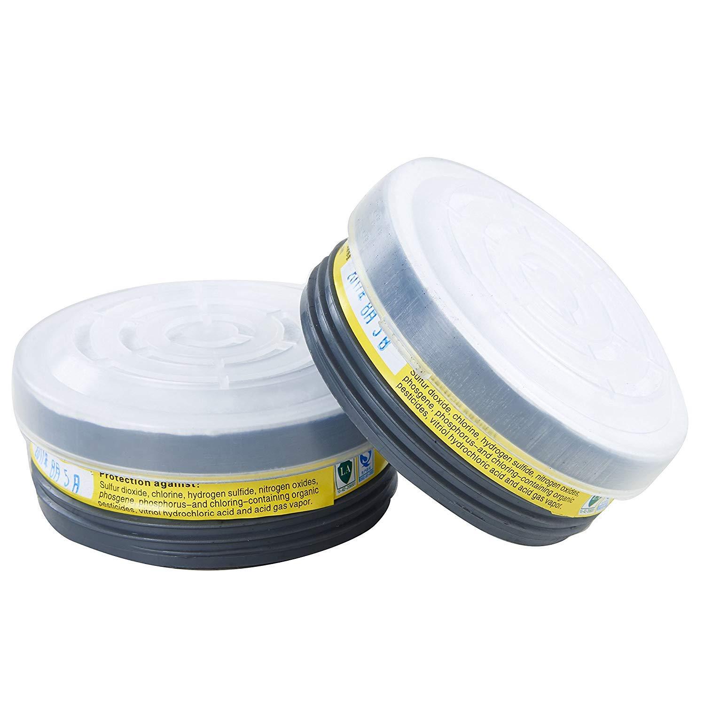 HOLULO Cartucho de Filtro para Respirador Facial Completo, 2 paquetes LDY7