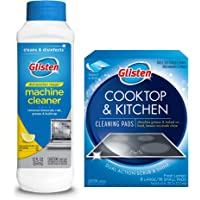 Glisten DM06N Dishwasher Magic Machine Cleaner & Disinfectant and Cooktop & Kitchen Cleaning Pads