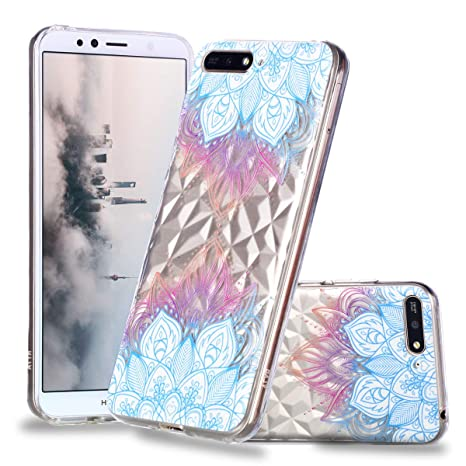 low priced 45cd4 017be Huawei Y6 2018 Soft TPU Silicone Case,WIWJ Embossed Varnish Painted ...