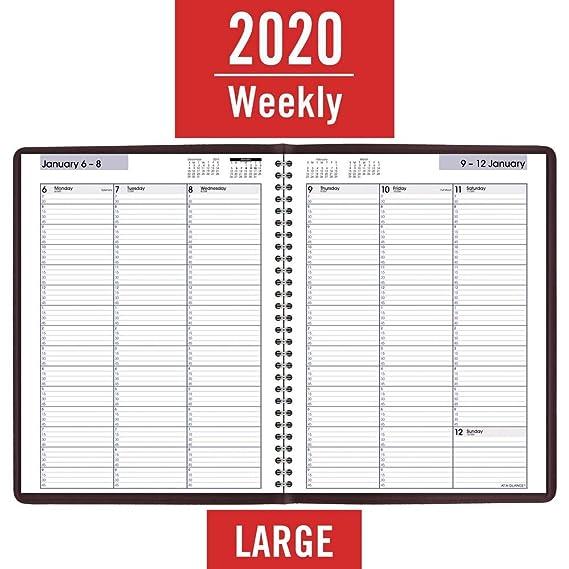 Amazon.com: AT-A-GLANCE 2020 - Agenda semanal para citas de ...