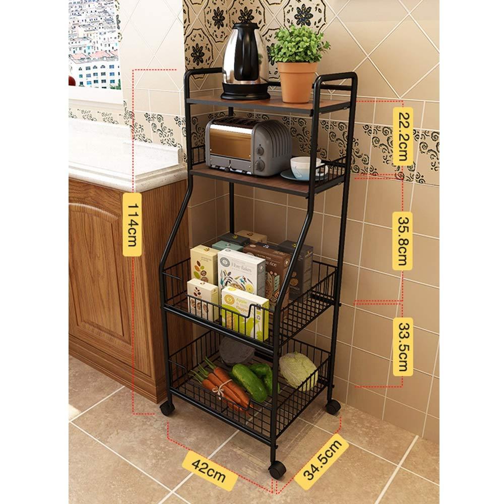 Kitchen shelf HUO Estante De Cocina Estante De Almacenamiento Multipropósito De Cocina Multifunction (Color : Nogal) by Kitchen shelf (Image #1)
