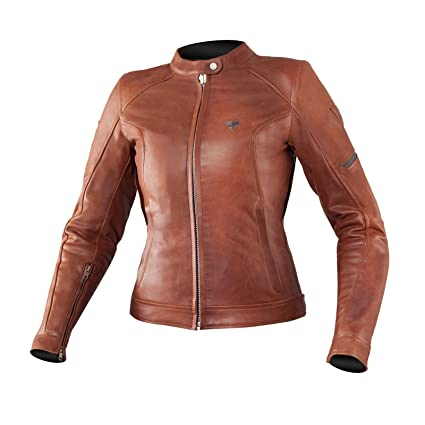 Shima Monaco Las Leather Summer Vintage Classic Retro Armored Motorcycle Jacket For Women With Protectors