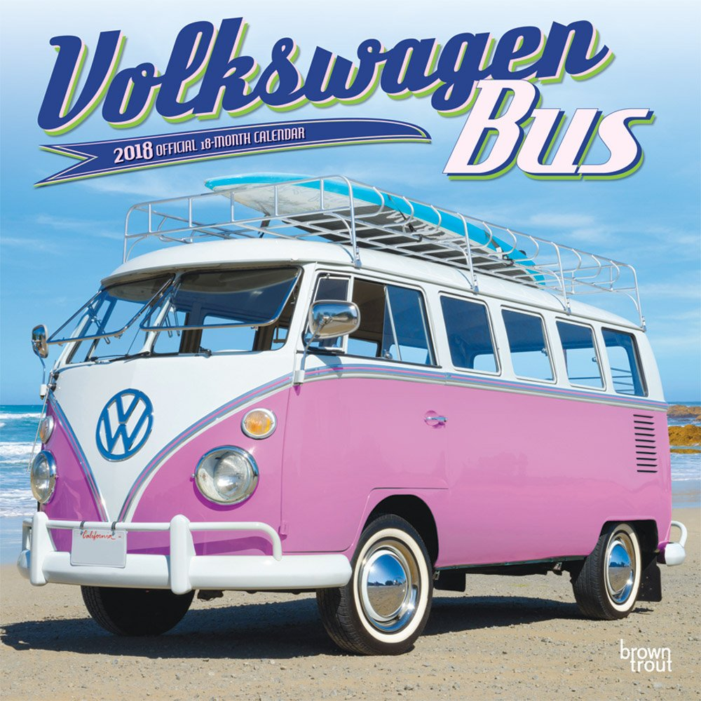 Volkswagen Bus 2018 12 x 12 Inch Monthly Square Wall Calendar, German Motor Car Van (Multilingual Edition) (Multilingual) Calendar – Wall Calendar, June 1, 2017 BrownTrout Publishers 1465088296 1888291 Automotive - Pictorial