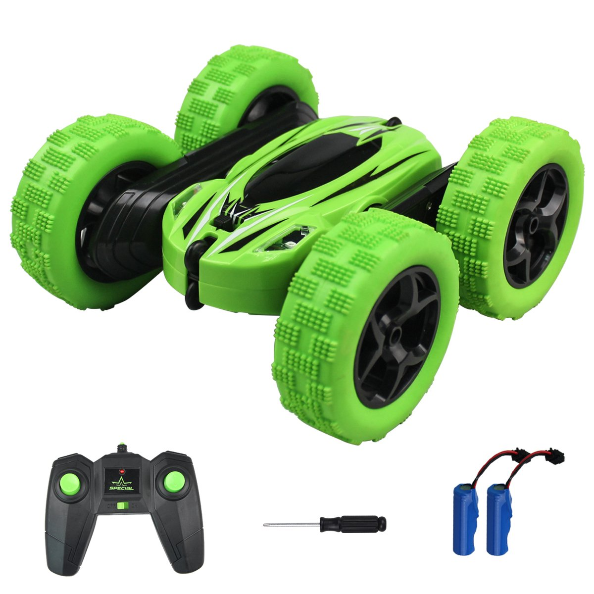 RC Cars Stunt Car Toy, FONXA 4WD 2.4Ghz Remote Control Car Double-Sided Rotating Vehicles 360 Degree Flips, Kids Toy Cars for Boys Girls Birthday