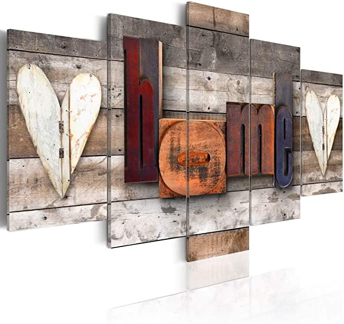 Abstract Canvas Prints Wall Art Burgundy Elegance Picture Contemporary 5 panels