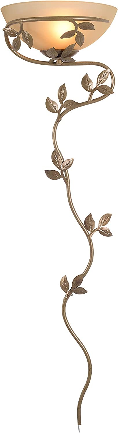 Kenroy Home 20624GLBR Casual 1 Light Wallchiere, 52 Inch Height, 15 Inch Width, 6.5 Inch, Extension with Golden Bronze Finish