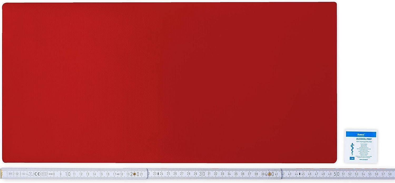 in vielen Farben erh/ältlich 50cm x 24cm SELBSTKLEBEND Flickly Anh/änger Planen Reparatur Pflaster moosgr/ün