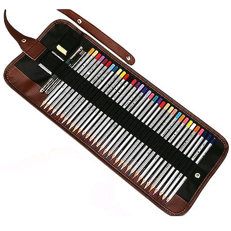 Zedtom - Estuche portalápices de tela con 36 orificios para lápices (lápices no incluidos)