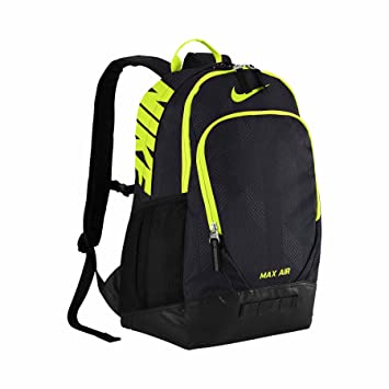 5c56197fe7dcd Nike Max Air Team Training Rucksack groß schwarz Volt  Amazon.de ...