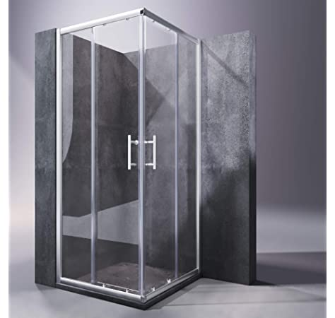 Mampara de Ducha MODULAR Rectangular - 2 Hojas FIJAS + 2 Hojas CORREDERAS. Con Tratamiento EASY-CLEAN. (70 x 90 cm, SERIGRAFIADO): Amazon.es: Bricolaje y herramientas