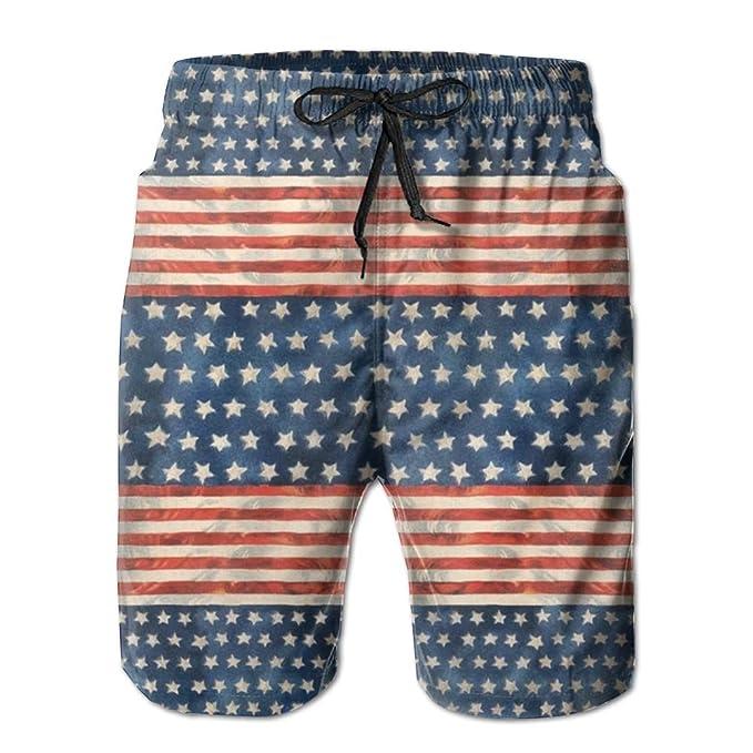 Amazon.com: Bandera Americana para hombre natación troncos ...