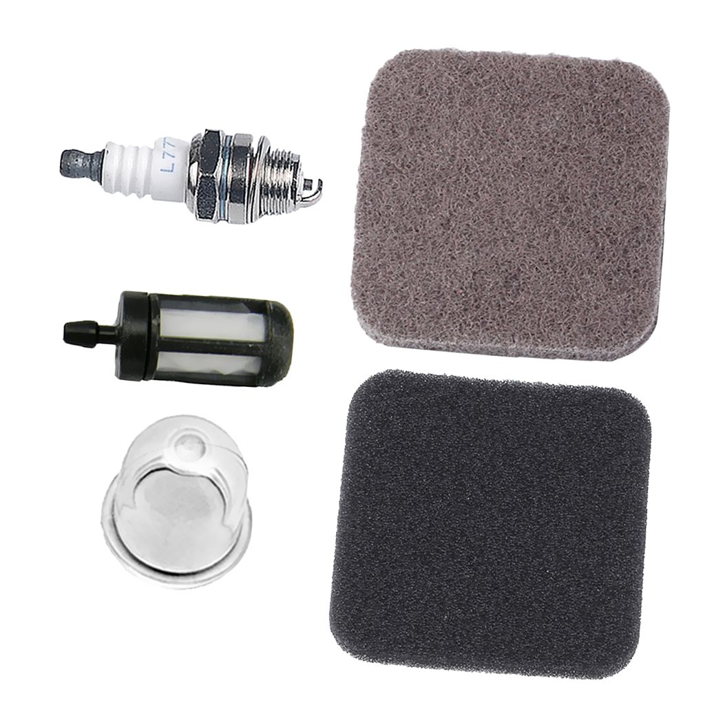 MagiDeal Pre Air Filter Primer Bulb Fuel Filter Spark Plug For STIHL FS75 FS80 FS85