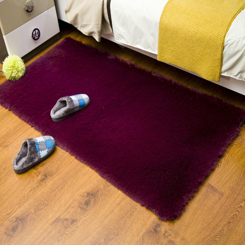 Padded Washable Floor Mat Bedroom Bedside Mats Bay Window Kitchen Hallway Bathroom Absorbent Pad-H 100x160cm(39x63inch)