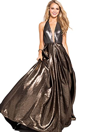 Jovani Prom 2018 Dress Evening Gown Authentic 57237 Long Gold Silver at  Amazon Women s Clothing store  e0223b8a1