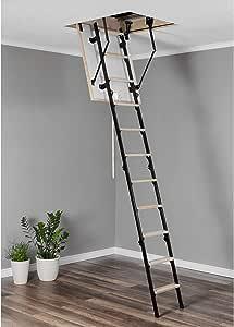 Escalera de suelo mini térmica (80 x 80 cm, madera): Amazon.es ...