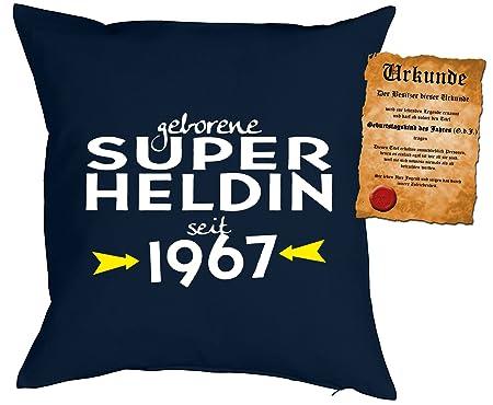 50 cumpleaños regalo Idea Cojín con relleno Super heroína ...