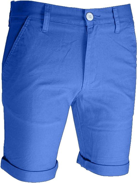westAce - Pantalones cortos chinos para hombre (algodón)