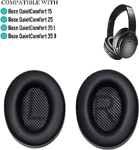 Oriolus Ear Pads Cushions for Bose Quietcomfort 35 ii QC35 ii 35 QC35 25 15 2 Headphones Ear Cushion for QC2 QC15 QC25 AE2 AE2i AE2w SoundTrue SoundLink Black