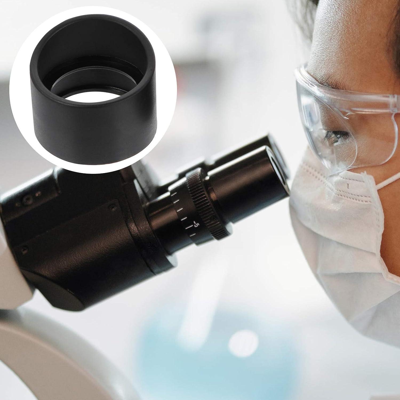 VILLCASE 2 Pi/èces Microscope Oculaire Couverture Oculaire Garde en Caoutchouc 33Mm pour Microscope St/ér/éo Binoculaire Angle Plat Prot/ège-Yeux Tasses Pi/èces