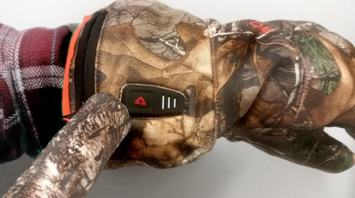 Camouflage Gerbing Gyde Featherweight Casual Heated Gloves 7V Battery