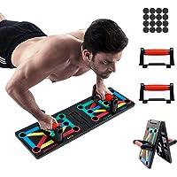 Tumax 12 in 1 Push-up Board, Opvouwbare Push-up Board, Fitnesstraining Thuis, Sportuitrusting, Spieropbouw, Bodybuilding…