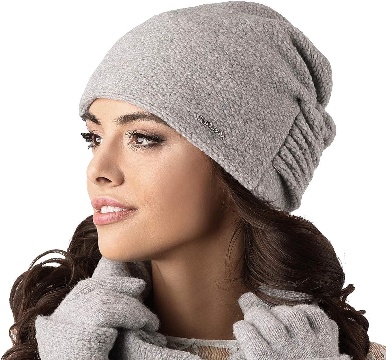 Kamea Damen M/ütze Kopfbedeckung Herbst Winter Salamanka