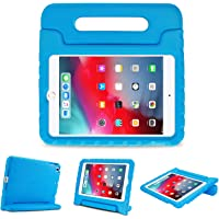 ProCase iPad Mini 5 / Mini 4 2015 Kid Case, Light Weight Kids Shock Proof Convertible Stand Handle Super Protective Non-Toxic Kid Cover for 2019 Apple iPad Mini 5/iPad Mini 4 –Blue