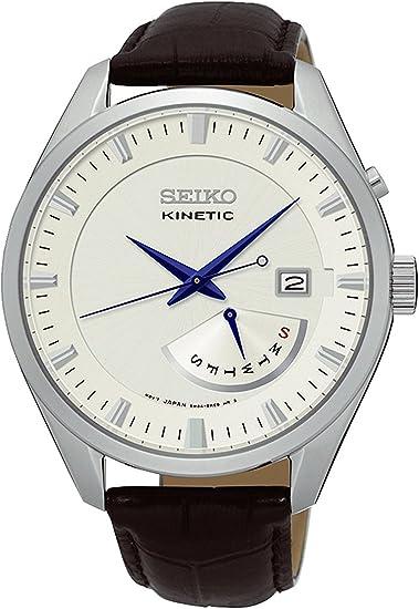セイコーSEIKOキネティッククオーツメンズ腕時計SRN071P1シルバー[並行輸入品]