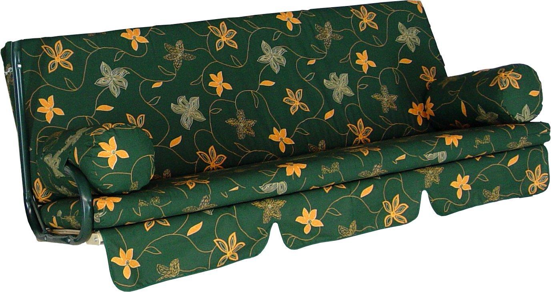 Angerer cushion for Trend garden swing 3-seater, Design Korfu Green (swing not included) 2022/108
