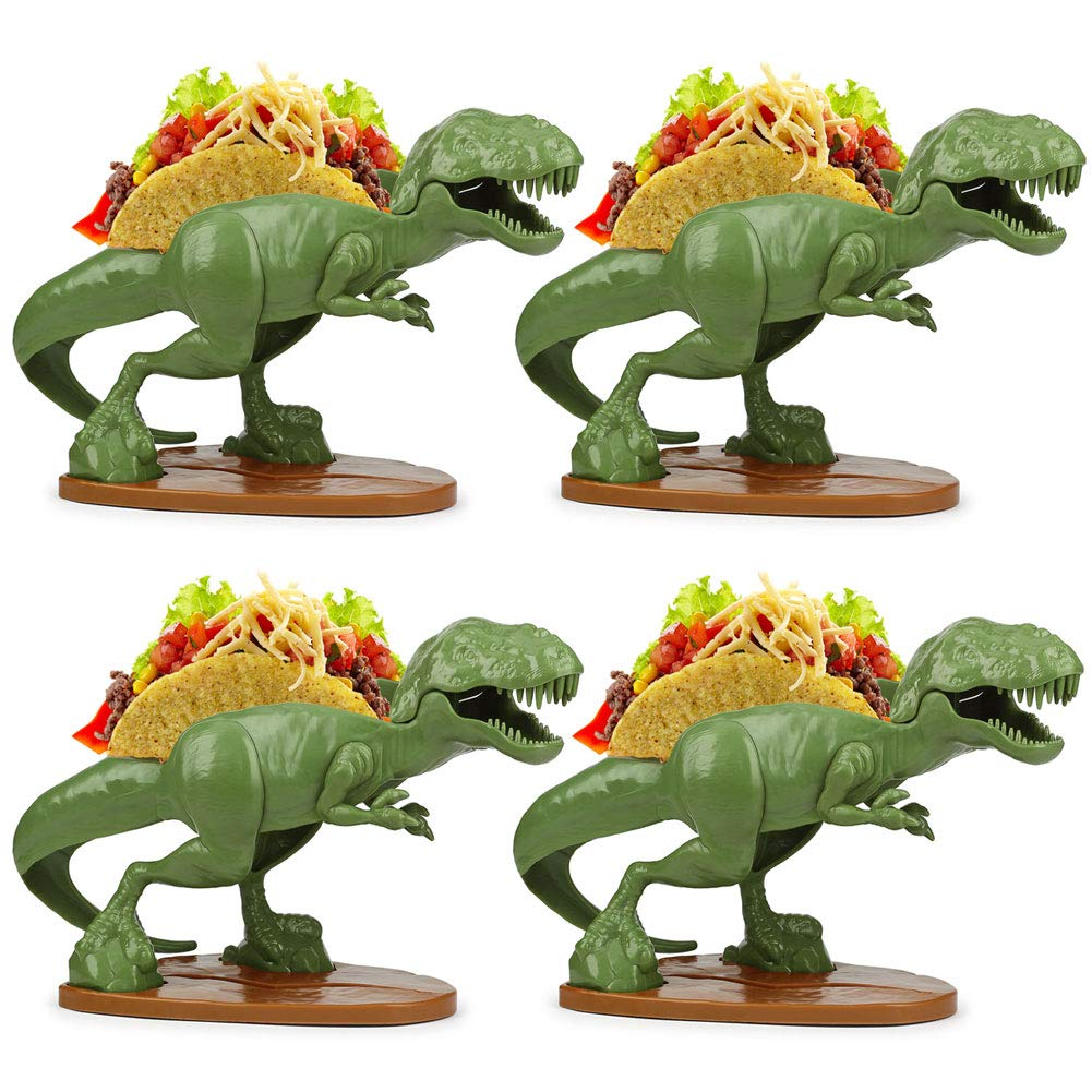 (Set/4) Tacosaurus Rex Double Taco Holder - Prehistoric Meal-time - ABS Free