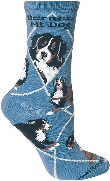 Wheel House Designs bouvier bernois Motif chaussettes en bleu