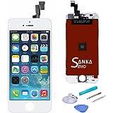 SANKA iPhoneSE フロントパネル A+ランク デジタイザ タッチパネル LCD 液晶セット ホワイト アイフォーン修理バーツ 交換工具付き (白)