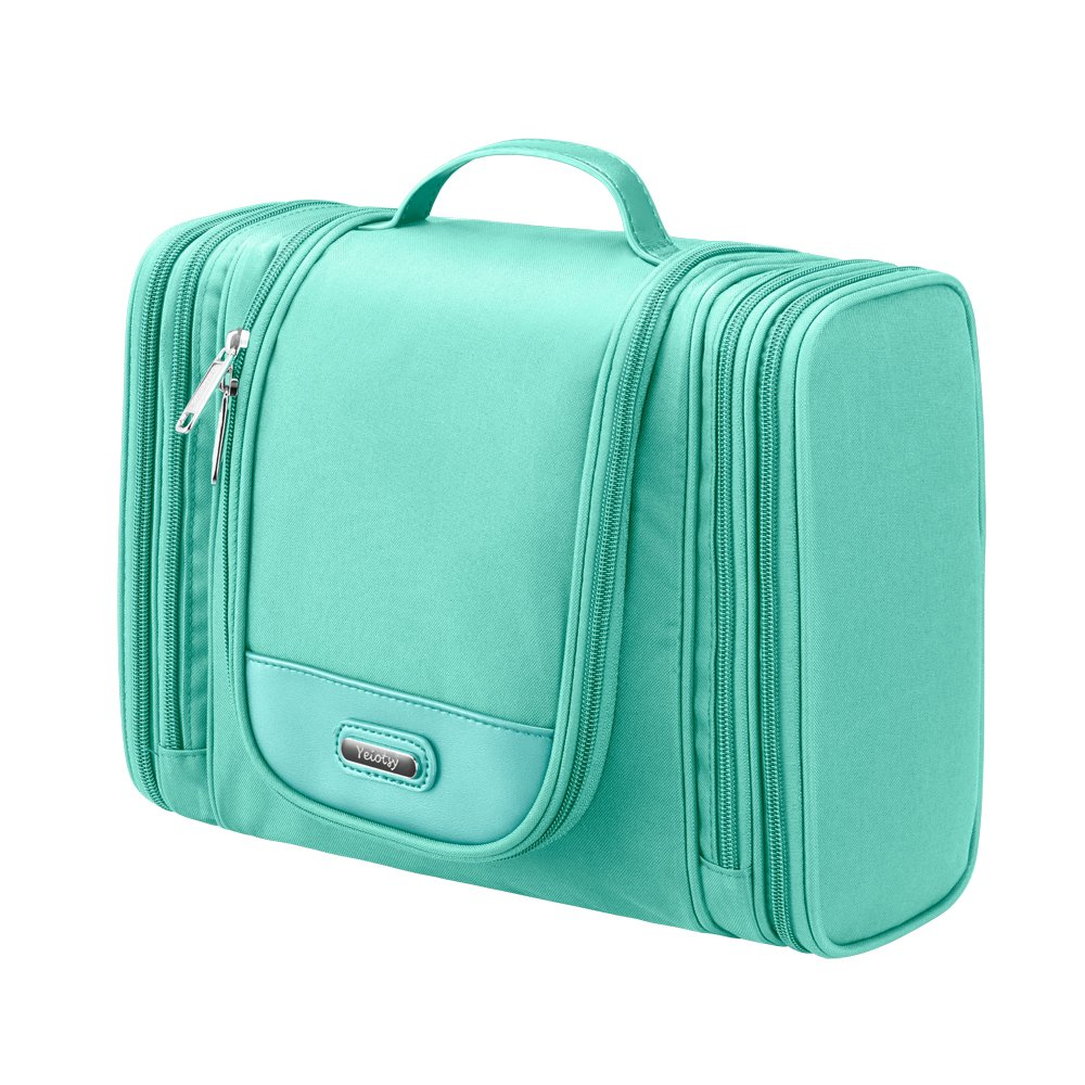 Toiletry Bag, Yeiotsy Magical Series Multi-Functional Hanging Toiletry Bag Travel Packing Organizer Large (Mint Green)