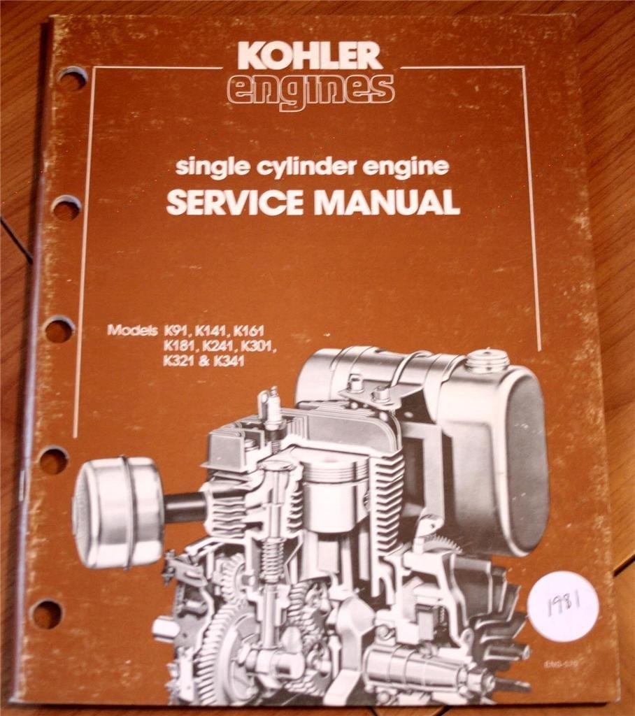 kohler engines single cylinder engine service manual model k91 k141 rh amazon com K301 Blade Kohler K301
