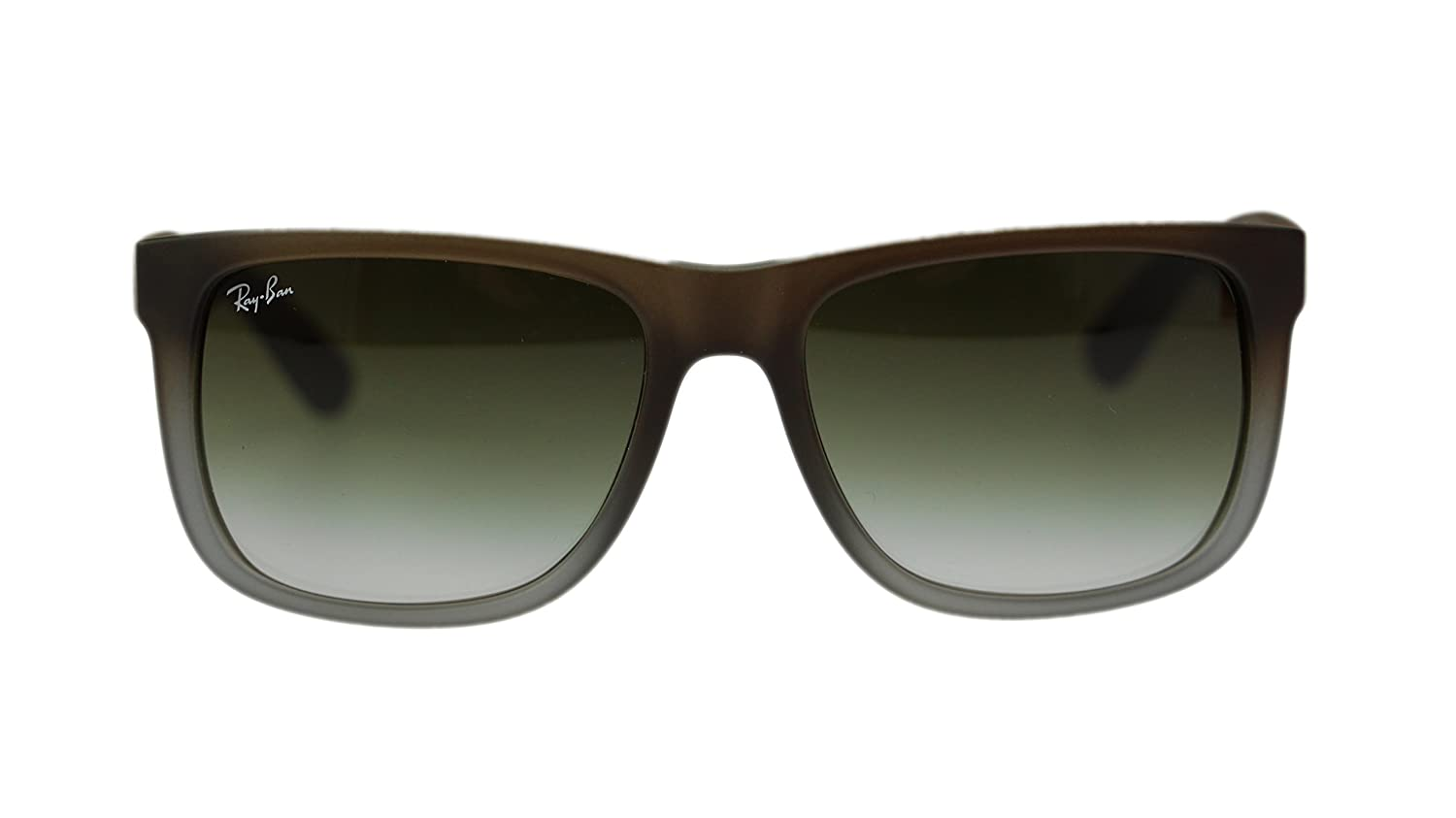 27e19943f7d2 Amazon.com  Ray Ban Justin Mens Sunglasses RB4165 854 7Z Rubber Brown on  Grey 55mm  Clothing