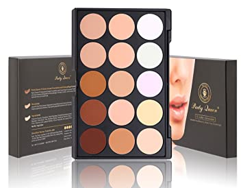 Amazon.com : Party Queen 15 Color Makeup Foundation Concealer ...