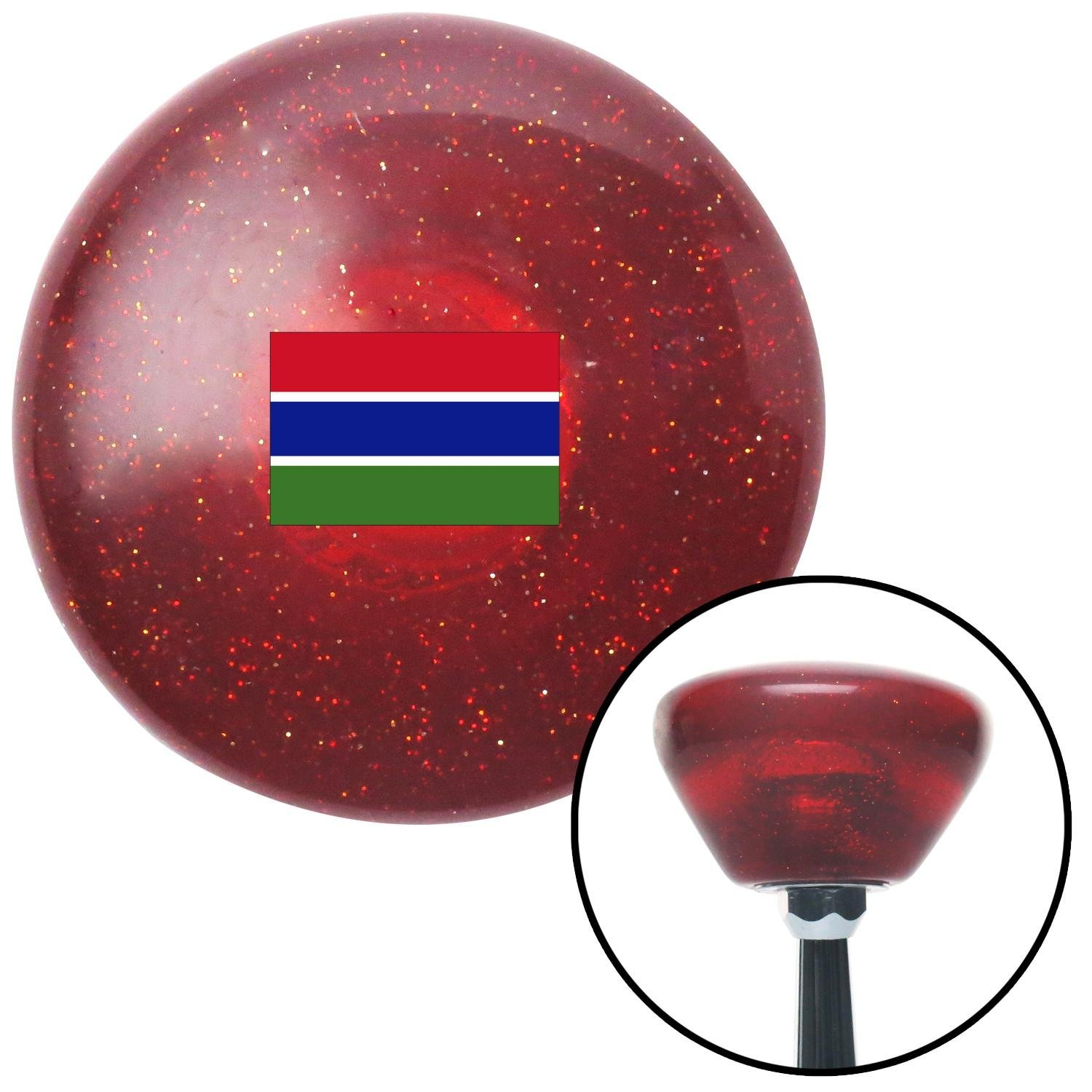 American Shifter 308567 Shift Knob The Gambia Red Retro Metal Flake with M16 x 1.5 Insert