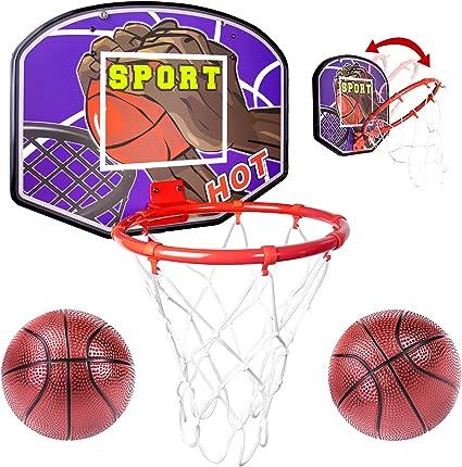 1X Kids Mini Indoor Basketball Hoop Set Over Door the Basket Ball Backboard GaJE