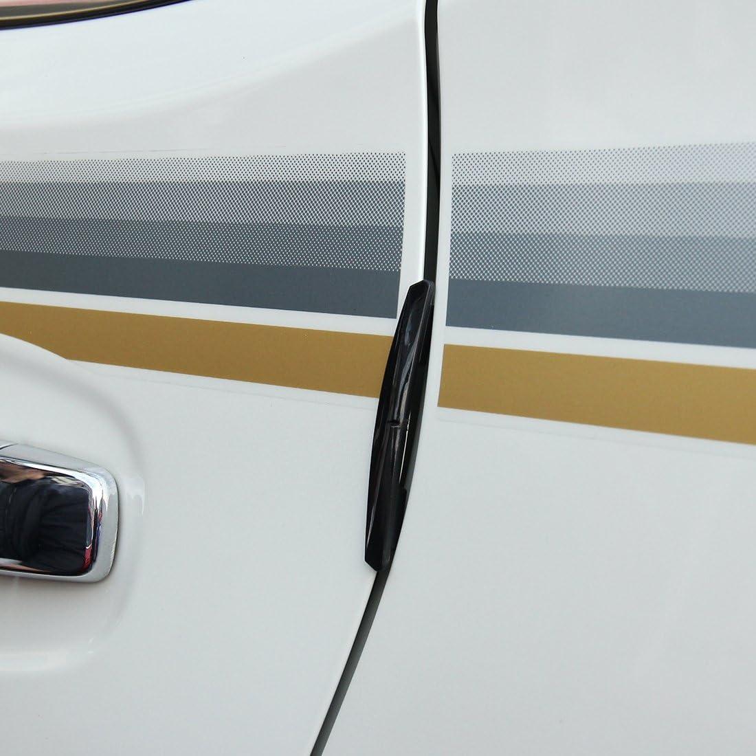 Schwarz YPshell Auto dekoratives Zubeh/ör f/ür 3R 3R-2103 4 ST/ÜCKE Gummi Auto Seitent/ür Kantenschutz Guards Cover Borte Aufkleber